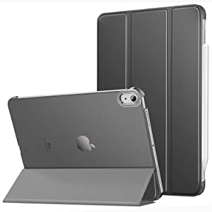 MoKo Case Fit New iPad Air 4th Generation 2020 - Slim Lightweight iPad 10.9 Case Stand Cover Smart Shell with Translucent Frosted Back Protector for iPad 10.9 inch, Auto Wake/Sleep, Space Gray