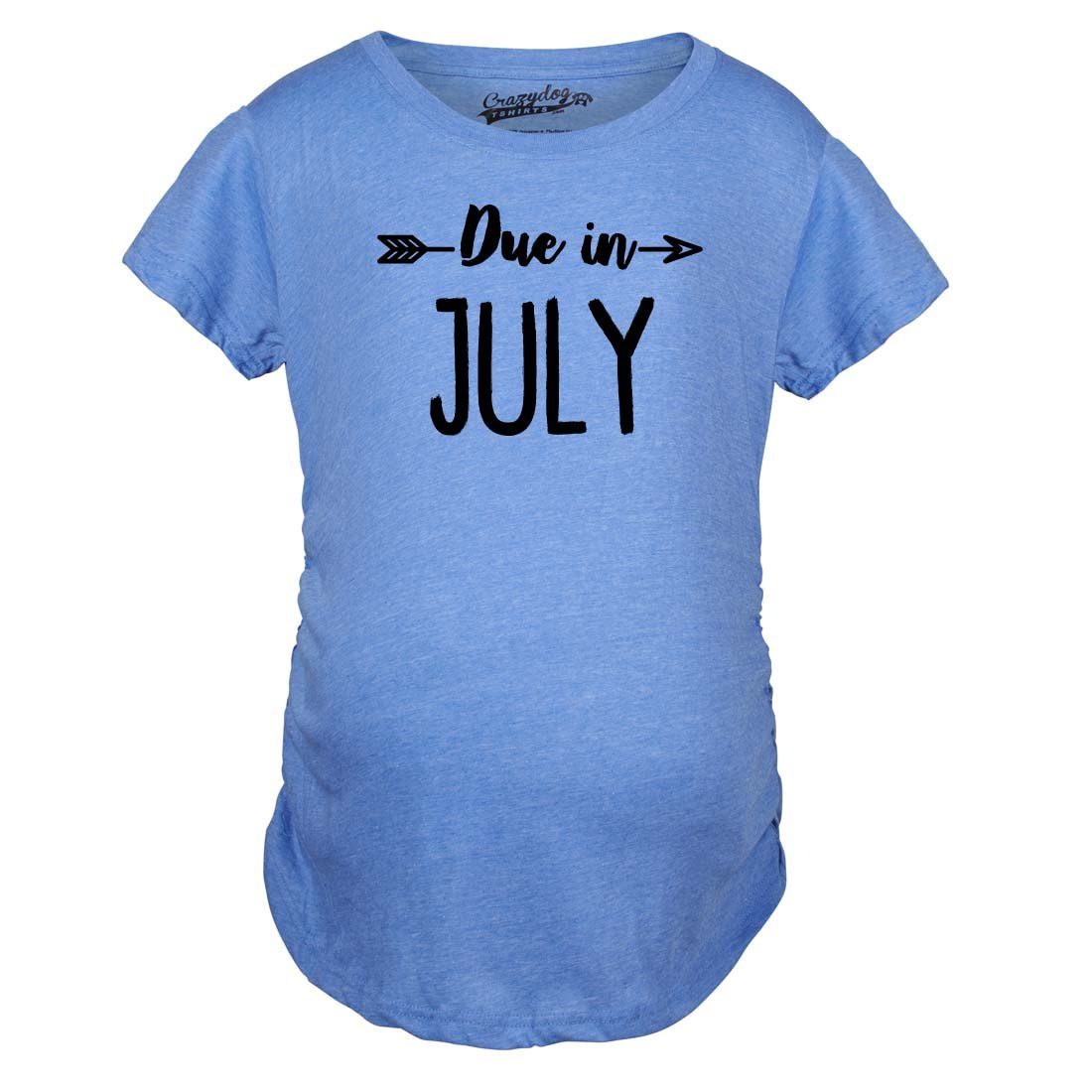 Maternity Due In July Funny T shirts Pregnant Shirts Announce Pregnancy Month Sh