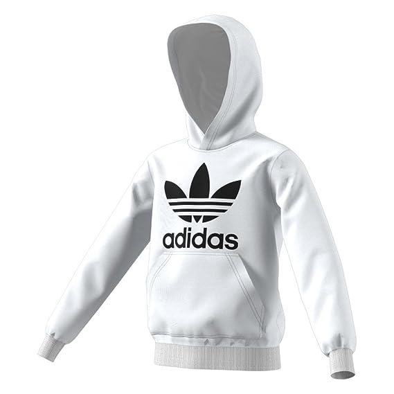 55500a6e8e4b adidas Boys Originals Trefoil Hoodie  Amazon.co.uk  Clothing