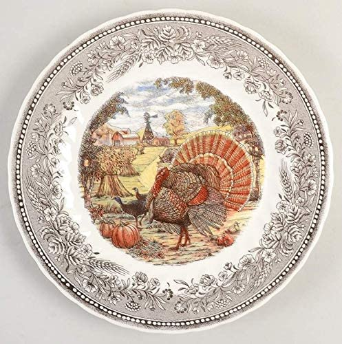8 Salad Plate, Set of 4 Royal Wessex Harvest Festival Thanksgiving Turkey Dinnerware by Churchill of England