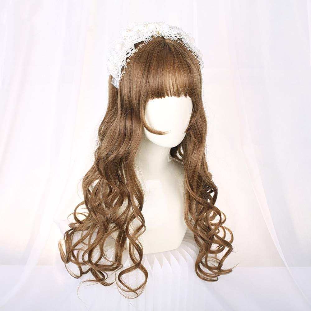 DER Wig Long Curly-Pelo Rojo Delgado Rattan Oscuro Ondulado ...
