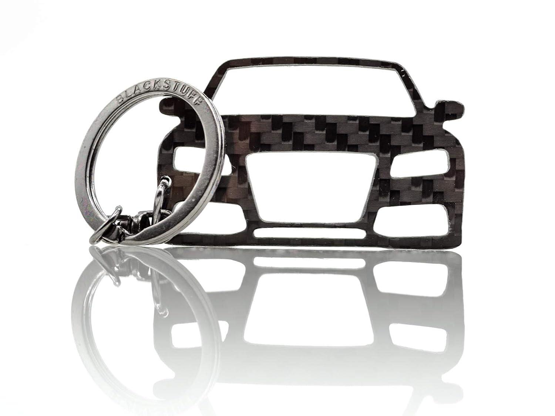 BlackStuff Llavero De Fibra De Carbono Cadena De Claves Compatible Con A5 S5 RS5 8T 2007-2011 BS-692