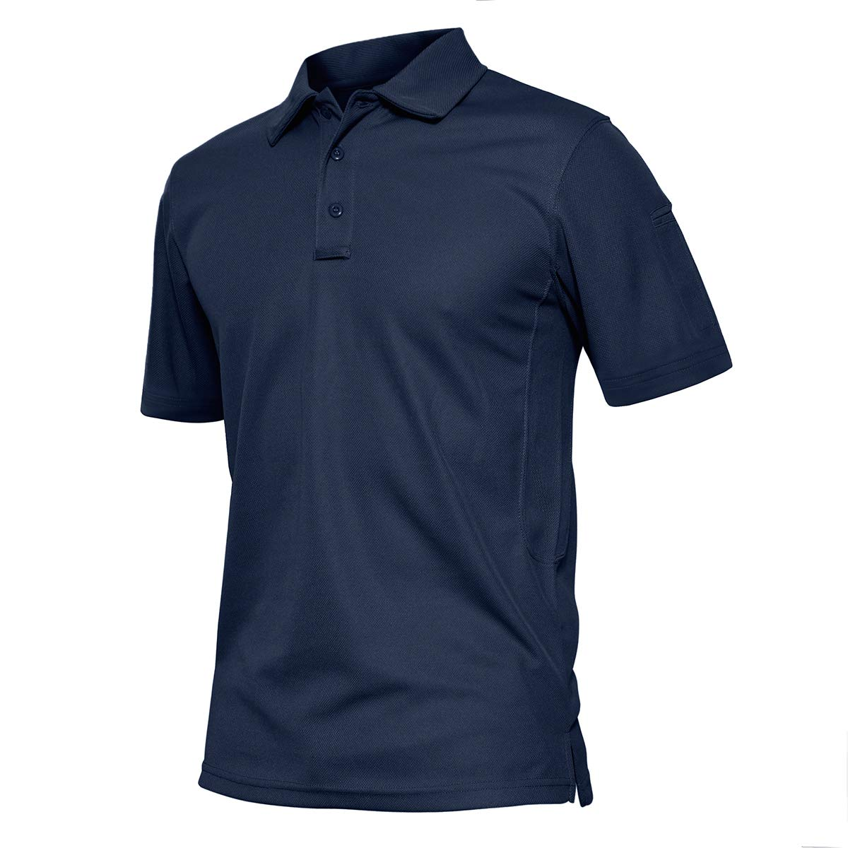 TACVASEN Men's Performance Battle Top Tactical Polo Combat Long Sleeve,US S by TACVASEN