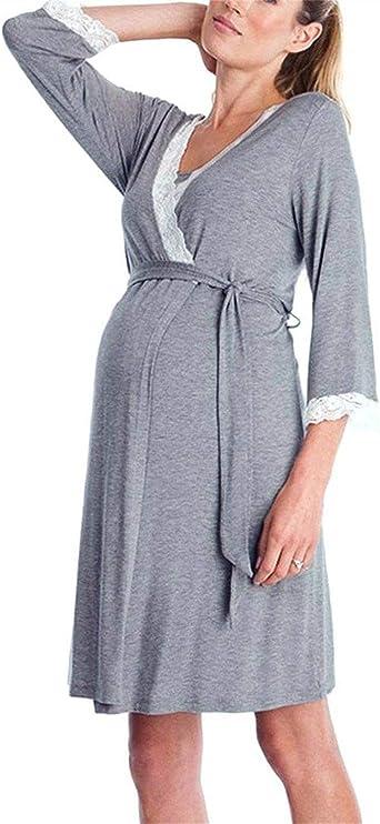Camisón De Enfermería De Mujer para Camisón Embarazada ...