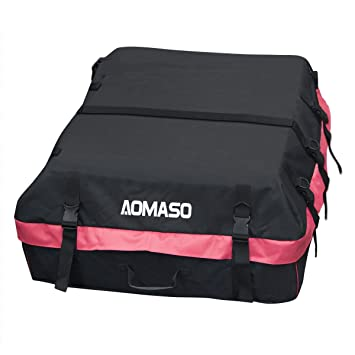 Aomaso Car Roof Bag Cargo 10 Cubic Feet Foldable And Waterproof Top Carrier