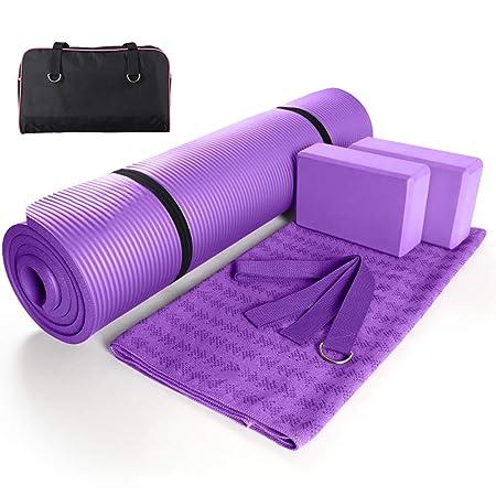 OTENGD Juego Completo de Yoga de 6 Piezas, tapete de Yoga ...