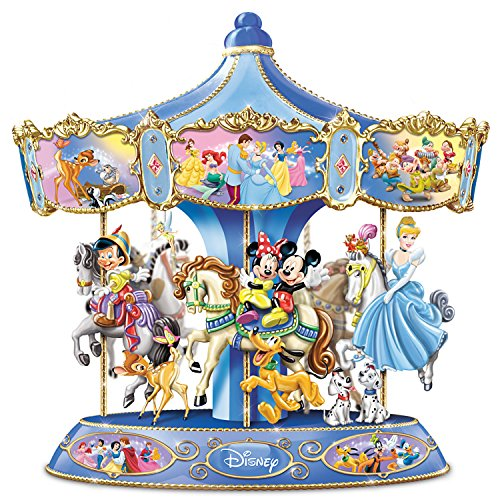 Hand Painted Glass Carousel (Wonderful World Of Disney Walt Disney's Classic Characters Musical Carousel by The Bradford Exchange)