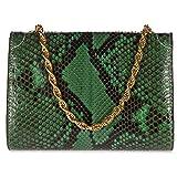 d Este womens clutch with shoulder strap handbag bag purse pitone green