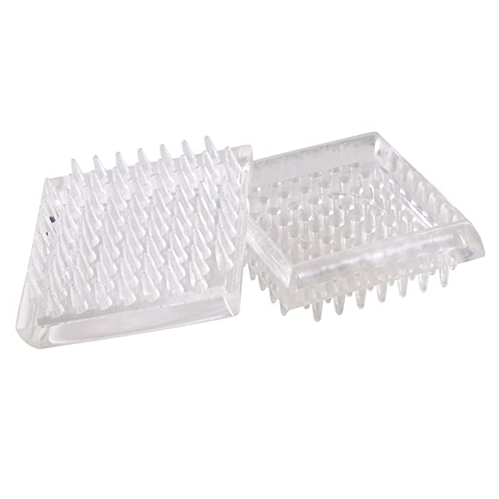 Shepherd Hardware 9083 1-7/8-Inch Spiked Furniture Cup, Clear Plastic, 4-Pack