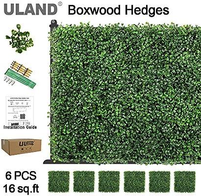 Paneles de hojas de hiedra artificiales, como decoración o barrera de privacidad, paquete de 6 piezas de 50,8 x 50,8 cm: Amazon.es: Hogar