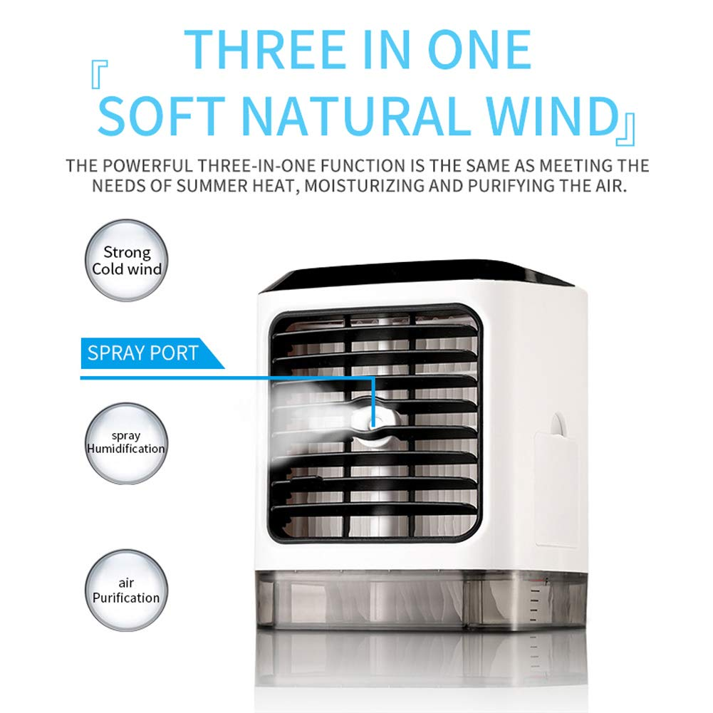 Scelet Refrigerador de Aire Aire Acondicionado peque/ño Mini Ventiladores Acondicionador port/átil de Verano Control Remoto
