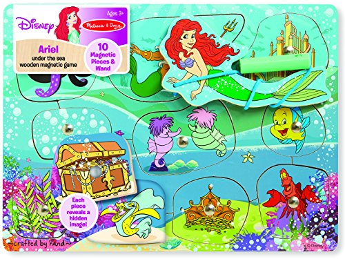 melissa-doug-disney-ariel-under-the-sea-wooden-magnetic-game-with-10-magnetic-pieces-and-wand