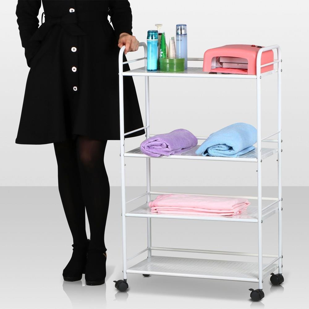 Topeakmart Rolling Trolley Cart Kitchen Storage Cart 4 Tier Facial Salon Spa Utility by Topeakmart (Image #9)