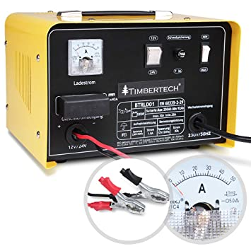 TIMBERTECH - BTRLD01 - Cargador para baterias de Coche - 12 y 24 V