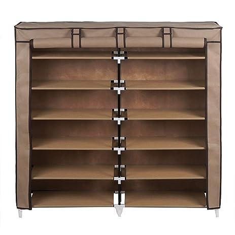 Amazon.com: SONGMICS 7-Tier Shoe Rack 36-Pair Shoe Storage Cabinet ...