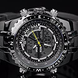 INFANTRY Gents Mens Digital Quartz Wrist Watch Date Chronograph Sport Army Black
