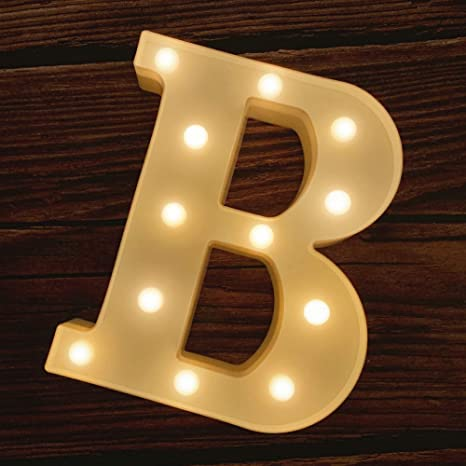Light Up Letters LED Lights Number Lamp Lighting Wall Lights Warm White Night Light for Home Party Bar Wedding Festival Birthday Decorations Valentines Day Gifts