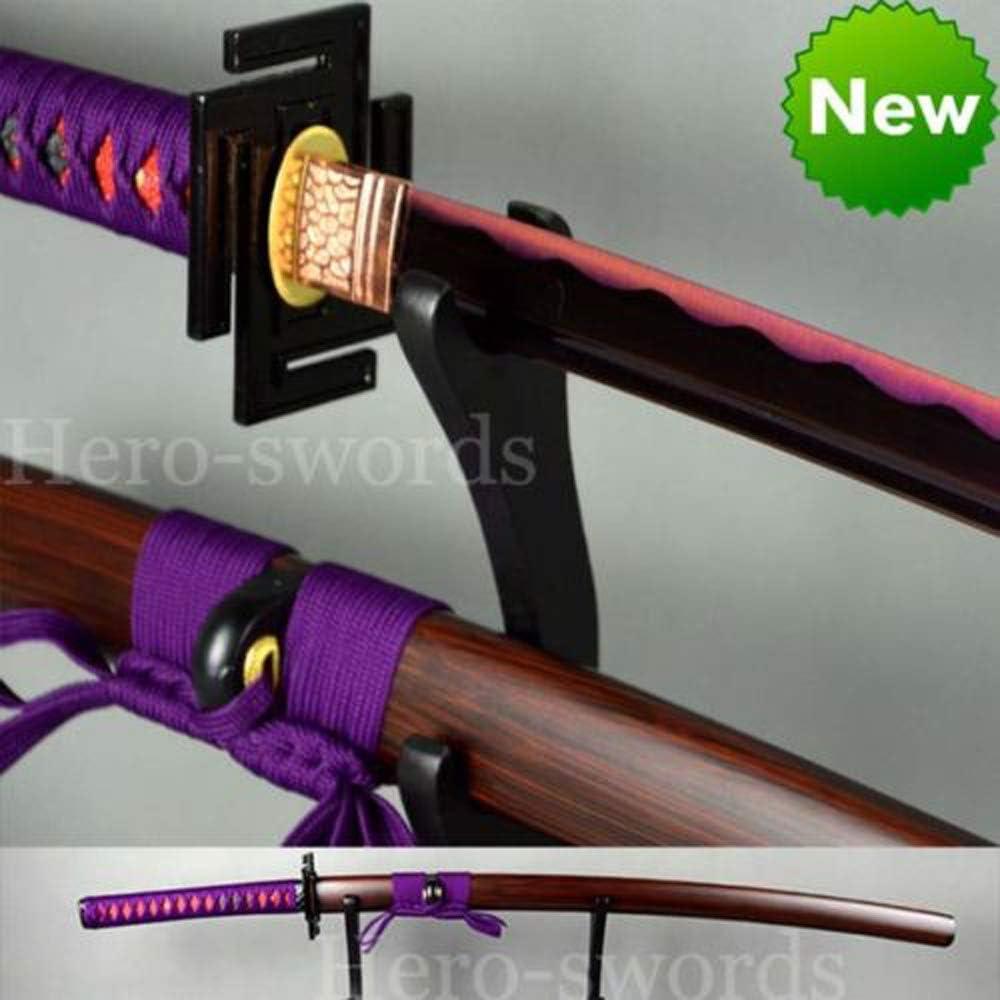 Amazon.com : Handmade 1060 high Carbon Steel Purple Blade ...