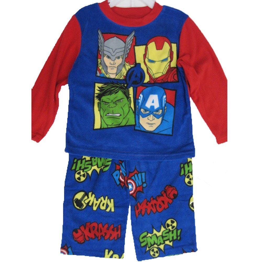 Avengers Little Boys Royal Blue Superheroes Character Print 2 Pc Pajama Set 4-6 ABC Brand Name Inc.