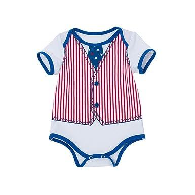 43a275969a049 Amazon.com: 4th of July Newborn Kids Baby Boys Girls Romper Cotton ...