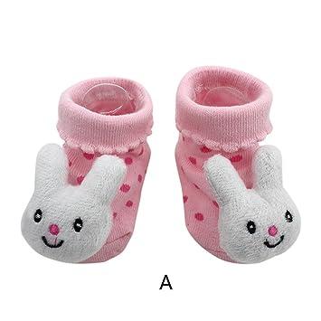 designer fashion bd49f 27594 Vovotrade 15 verschiedene Karikatur Neugeborene Baby Jungen Anti Rutsch  Socken Hefterzufuhr Schuh Aufladungen (A)