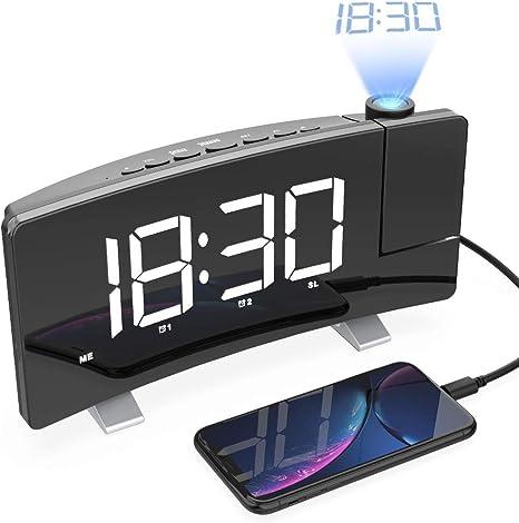 Despertador con proyector, Radio Despertador con proyector y ...