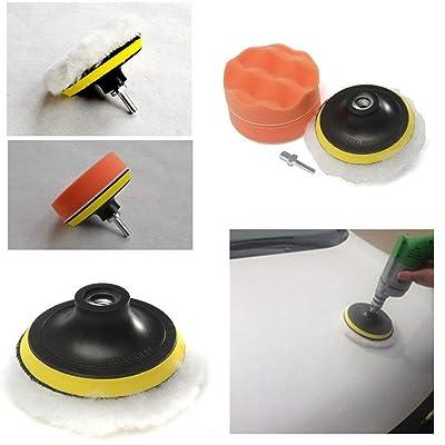 5 Pcs/Set 4 polegada Tampon de Polissage Auto Voiture Polissage éponge Roue kit avec M10 Foret Adaptateur Tampon Haute Brut Nouveau largage Livraison