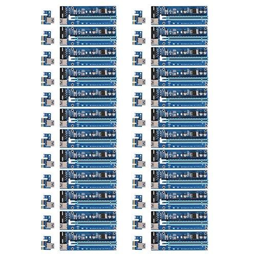 Mining SATA Cable, Awakingdemi PCI-E 1X to 16X Extender Riser Card 4Pin USB3.0 Cable for Mining,20pcs by Awakingdemi