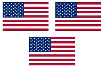 3 x Mini Aufkleber  4 x 25 cm  Fahne der USA Amerika Sticker