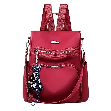 Mochila impermeable para mujer, bolsa para libros, mochila ...