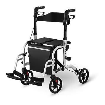 Uniprodo Silla Con Andador Para Adultos Caminador UNI_ROLL_03 2in1 ...