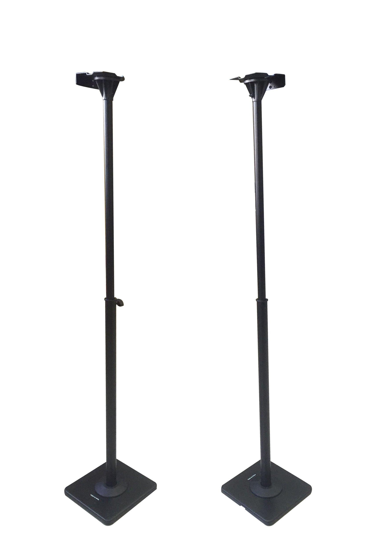 VideoSecu One Pair Height Adjustable Speaker Stands Mounts Heavy Duty Floor Surround Sound Satellite Small Bookshelf Speakers Stand MS08B DA8