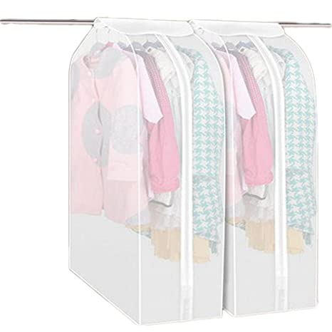 Multill Clear Garment Bag Clothes Dust Cover Bag Closet Storage Hanging Bag  Dustproof Covers For Clothes