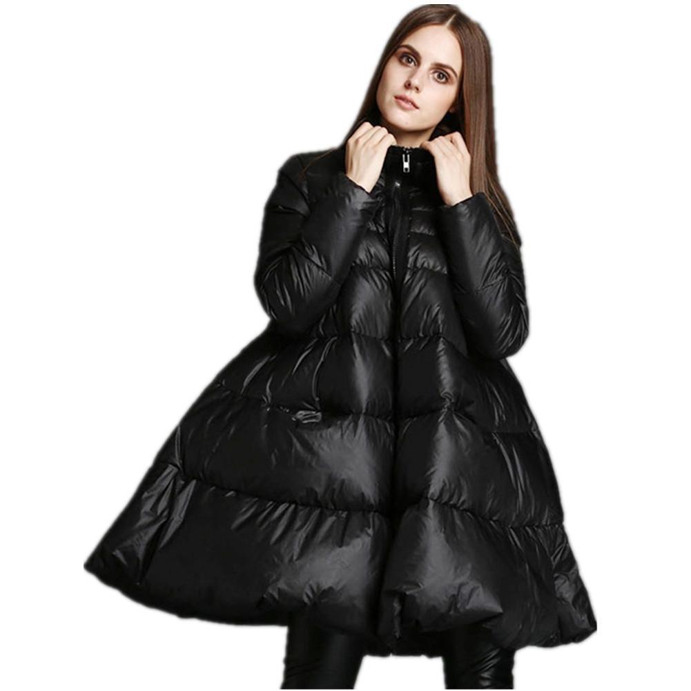 SHISHANG La chaqueta de señora abajo engrosando el tipo de abrigo cuello variable una chaqueta de ti...