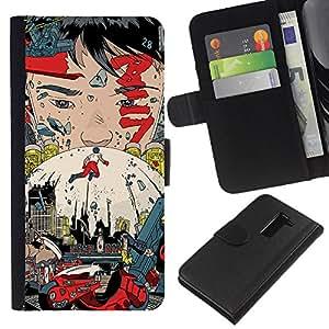 // PHONE CASE GIFT // Moda Estuche Funda de Cuero Billetera Tarjeta de crédito dinero bolsa Cubierta de proteccion Caso LG G2 D800 / Akira Poster /