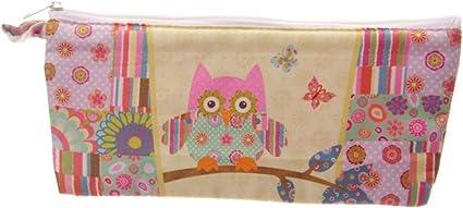 Diseño de tela de patchwork Owl estuche – diseños creativos PDS (B): Amazon.es: Oficina y papelería