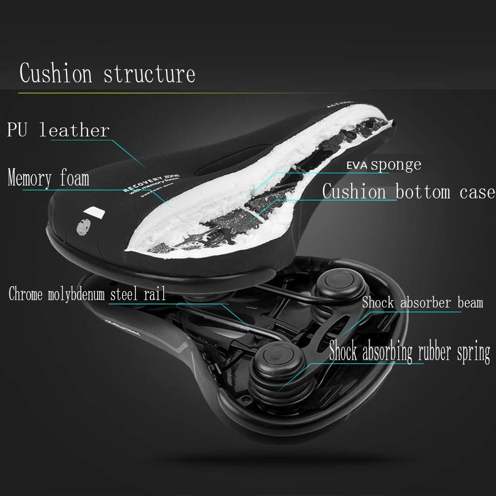 gengyouyuan Coussin de v/élo /Épaississement Confortable Selle VTT Equipement de Cyclisme