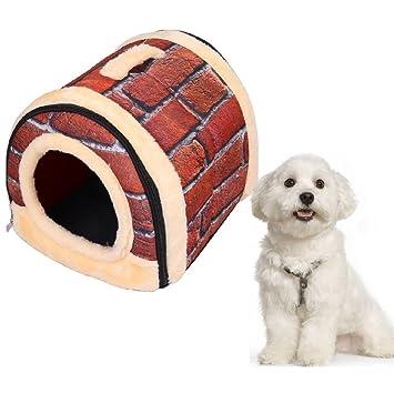 Suministros para mascotas suave y acogedor algodón cubierta al aire libre Cama portable de la casa
