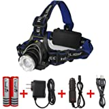 Amerzam LED Headlamp, Water-resistant& lightweight Camping outdoor sports Headlight with usb Cable