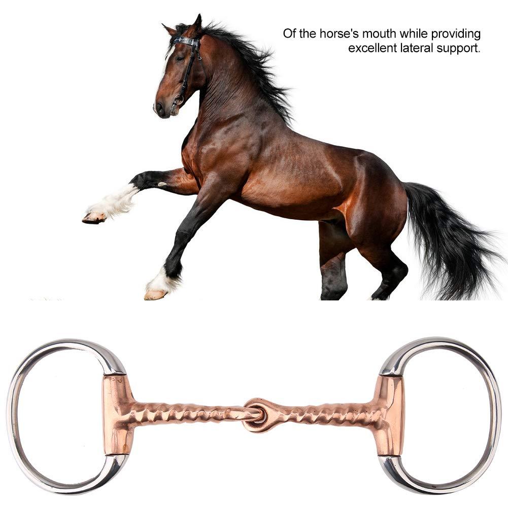 HEEPDD Horse Snaffle,All Purpose Ring Snaffle Bit Stainless Steel Western Bit Roller Horse Stiff-Bit