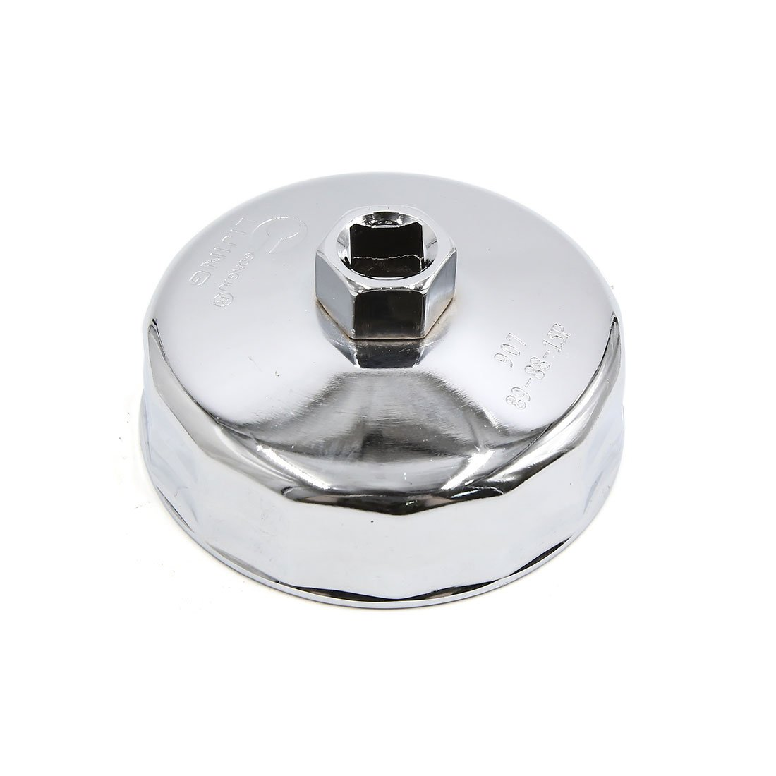 uxcell 88mm Inner Dia 15 Flute Silver Tone Metal Car Oil Filter Cap Wrench Remover Tool