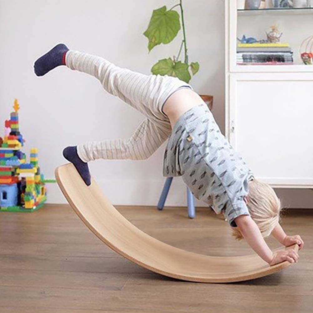 Amazon.com: LuckIn Tabla de equilibrio de madera para niños ...