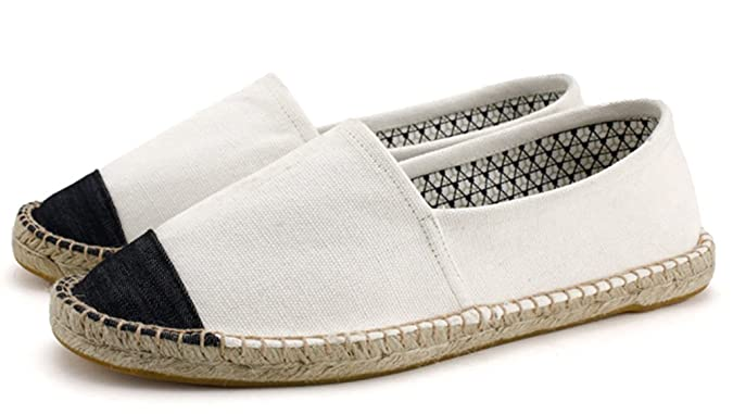 Men's Durable Low Top Slip On Flat Espadrilles Canvas Loafers Shoes