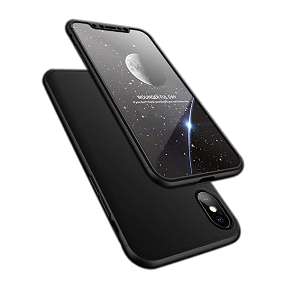 online store b6b00 cc536 iPhone X case, ATRAING Ultra-Thin PC Hard Case Cover for Apple iPhone X  (Black)