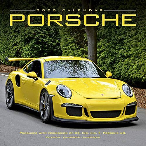 Porsche Calendar- Calendars 2019 - 2020 Wall Calendars - Car Calendar - Automobile Calendar - Porsche 16 Month Wall Calendar by Avonside