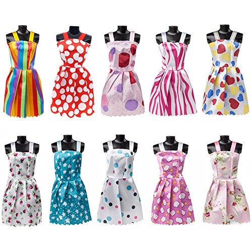 113Pcs Barbie Doll Clothes Set, 15 Pack Barbie Clothes Party Grown Outfits Dresses and 98pcs Different Doll Accessories Shoes bags Glasses Necklace Tableware for Little Girl Birthday by Giraffe US (Image #2)