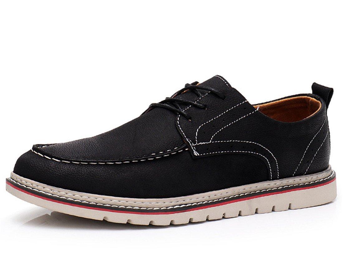 SKY-Maria Herren Mode Lässige Schuhe Licht Rutschfest Flache Schuhe Segeltuchschuhe Atmungsaktiv Freizeitschuhe Grösse 39-44,schwarz,42