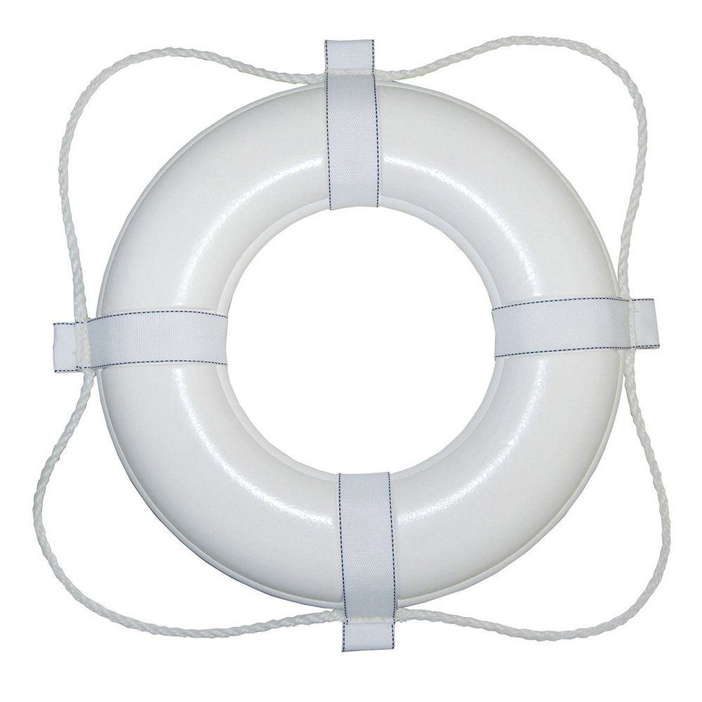 Taylor Made Products 361 24-Inch Polyurethane Foam Marine Life Ring with Grab Lines-White