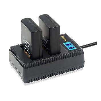SHOOT Baterías EN-EL14 EN-EL14a de Repuesto (2-Pack) con Cargador Inteligete Pantalla LCD para Nikon P7000, P7100, P7700, P7800, D3100, D3200, D3300, ...