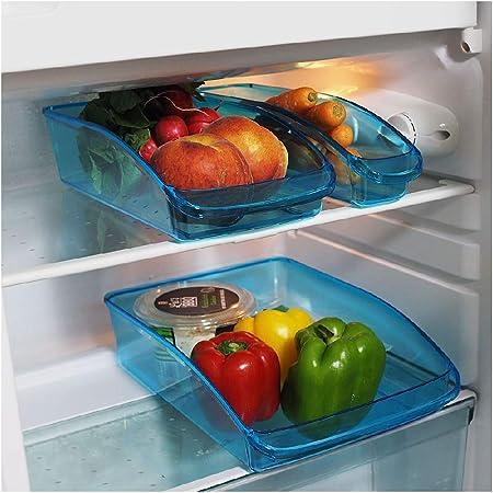 Provance Juego de 3 Frigorífico Organizador almacenar Caja Congelador despensa para Guardar Comida de Verduras Fruta Leche, tarros Esterilizable: Amazon.es: Hogar
